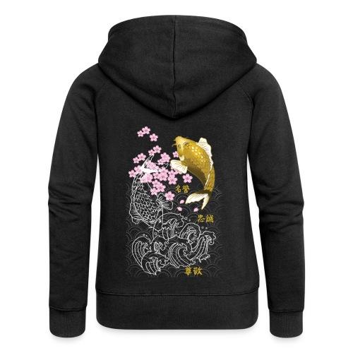 yamatotamashii tshirt logo8 png - Felpa con zip premium da donna