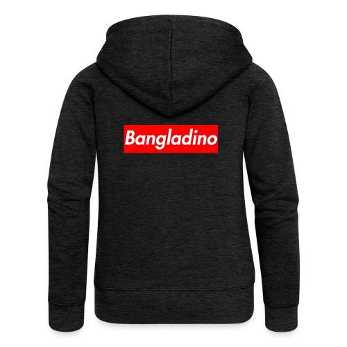 Bangladino - Felpa con zip premium da donna