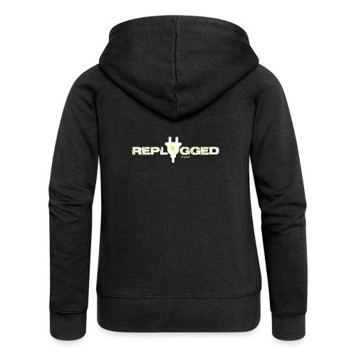 Replugged - Clip Art White - Women's Premium Hooded Jacket