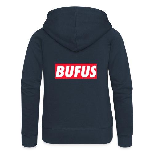 BUFUS - Felpa con zip premium da donna