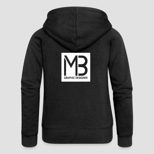 Logo MB Graphic Designer White - Felpa con zip premium da donna
