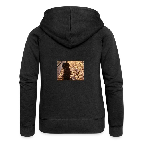 THE GREEN MAN IS MADE OF AUTUMN LEAVES - Women's Premium Hooded Jacket