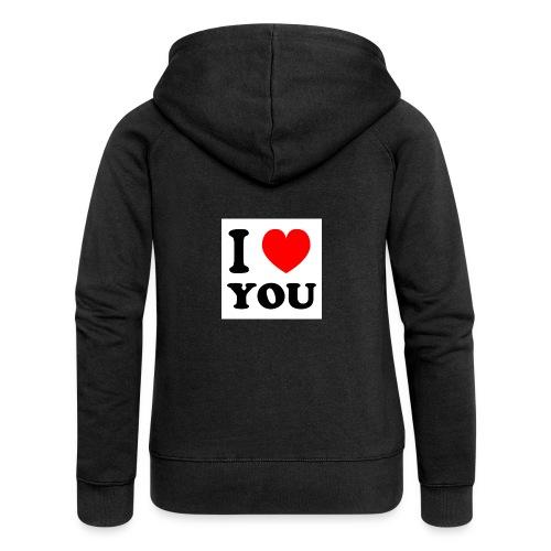 I love shirts en mee - Vrouwenjack met capuchon Premium