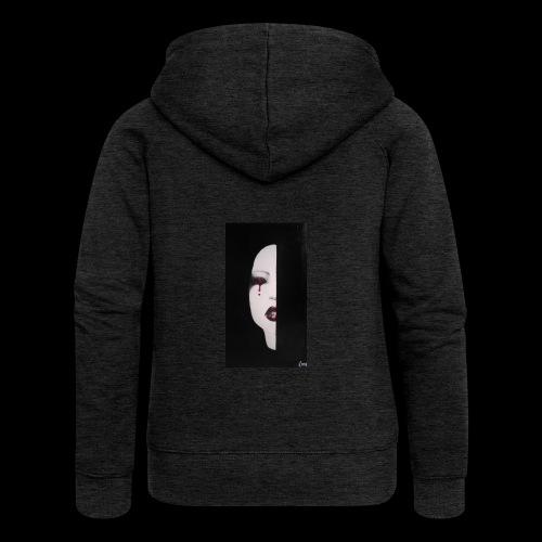 BlackWhitewoman - Felpa con zip premium da donna