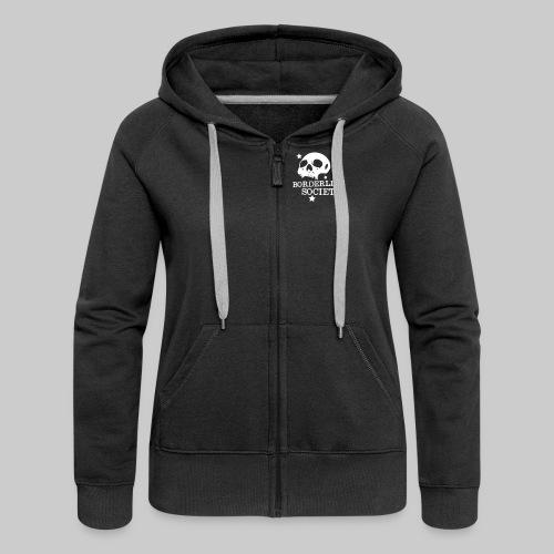 bs logo skull schrift klein - Frauen Premium Kapuzenjacke