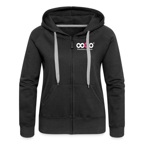 ooOo logo light - Women's Premium Hooded Jacket