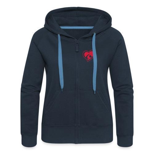 Red Star Heart - Women's Premium Hooded Jacket