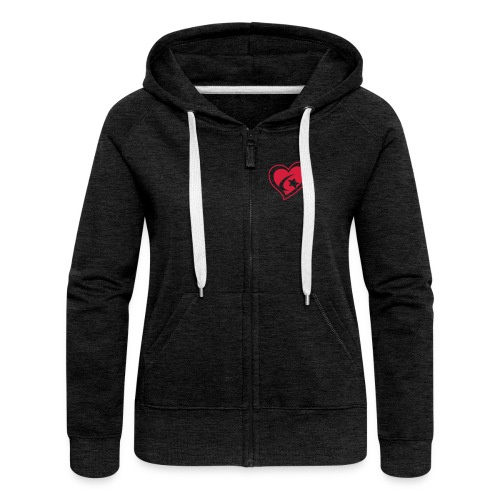 Red Star Heart - Women's Premium Hooded Jacket
