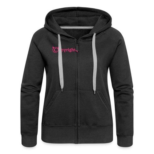 Copyright-Shirt-Black - Frauen Premium Kapuzenjacke