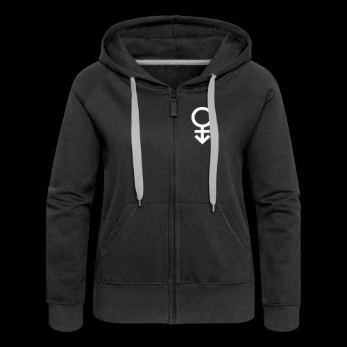 Genderqueer symbol - Women's Premium Hooded Jacket