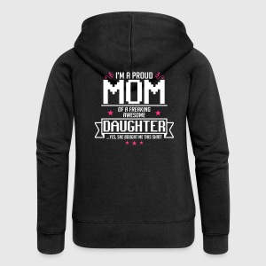 I'm a Proud mom of a freaking awesome daughter - Frauen Premium Kapuzenjacke