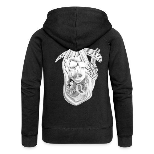 Skull design tshirt inver - Premium hettejakke for kvinner