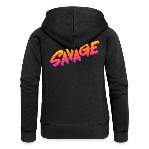SAVAGE - Felpa con zip premium da donna