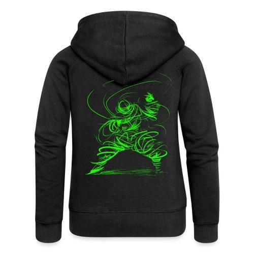 Kung Fu Sorcerer / Kung Fu Wizard - Women's Premium Hooded Jacket