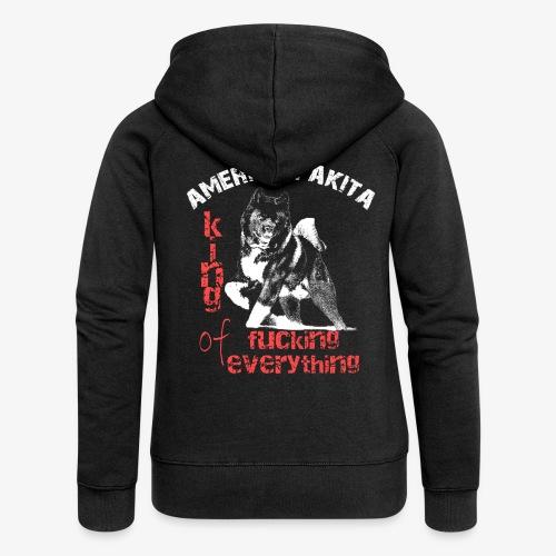American Akita - King of fucking everything - Women's Premium Hooded Jacket