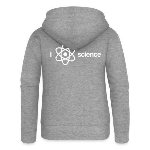 Ich liebe Wissenschaft - Frauen Premium Kapuzenjacke