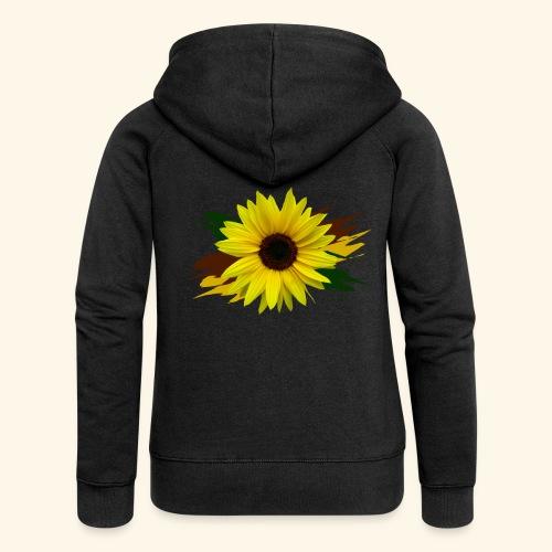 Sonnenblume, Sonnenblumen, Blume, floral, blumig - Frauen Premium Kapuzenjacke