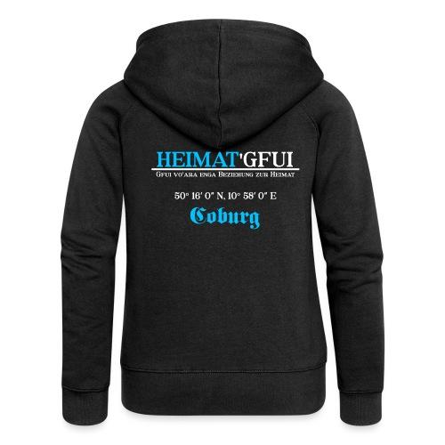 Heimat'Gfui Coburg Bayern Koordinate Dialekt - Frauen Premium Kapuzenjacke