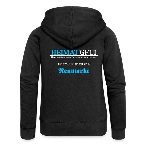Heimat'Gfui Neumarkt Bayern Koordinate Dialekt - Frauen Premium Kapuzenjacke