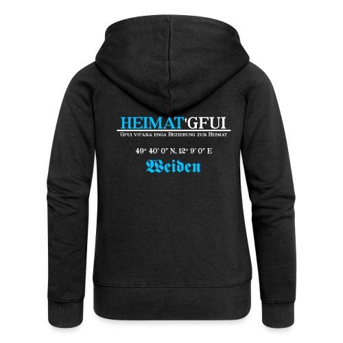 Heimat'Gfui Weiden Bayern Geschenk Dialekt - Frauen Premium Kapuzenjacke
