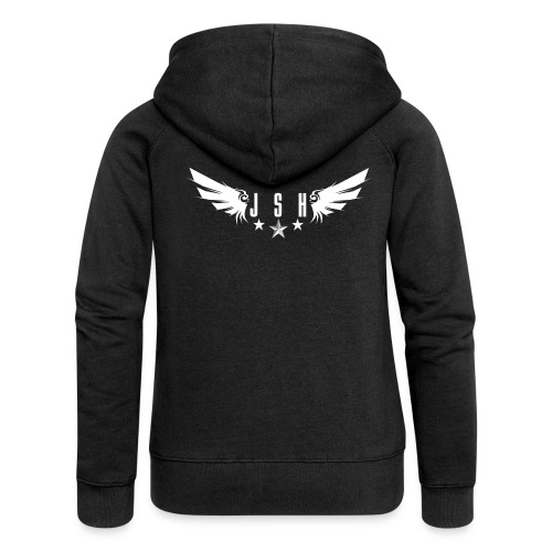 JSHLogo 1w png - Women's Premium Hooded Jacket