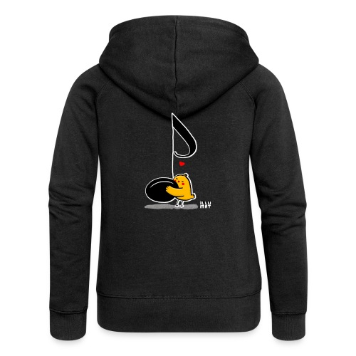 LYD 0001 02 music was my fist love - Frauen Premium Kapuzenjacke