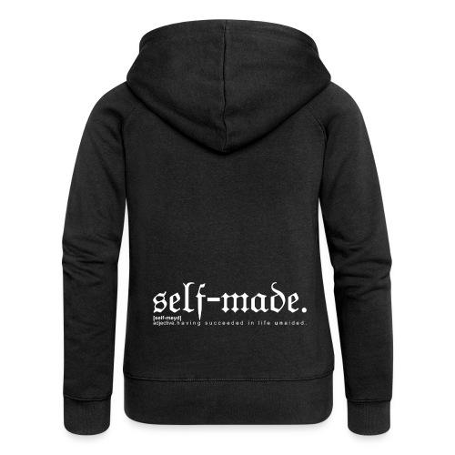 SELF-MADE BW - Women's Premium Hooded Jacket