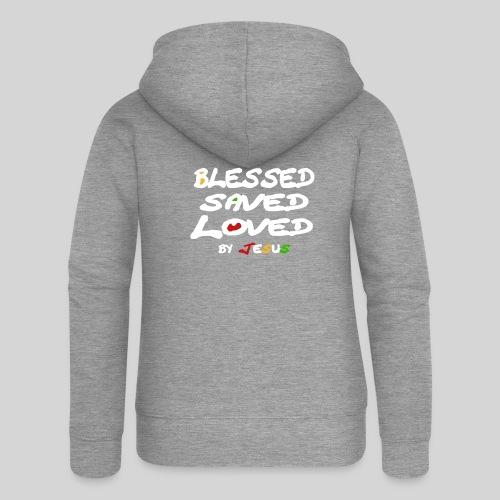 Blessed Saved Loved by Jesus - Frauen Premium Kapuzenjacke