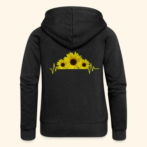 Sonnenblumen Herzschlag Sonnenblume Blumen Blüten - Frauen Premium Kapuzenjacke