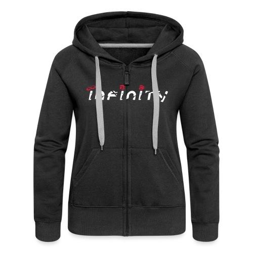Logo Infinity23 Large - Women's Premium Hooded Jacket