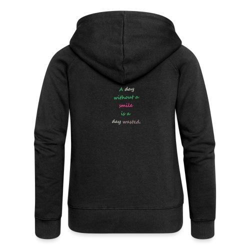 Say in English with effect - Women's Premium Hooded Jacket