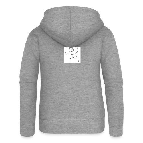 lady t-shirt stick man - Dame Premium hættejakke