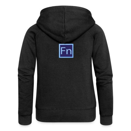 Borraccia falsonome FN - Felpa con zip premium da donna