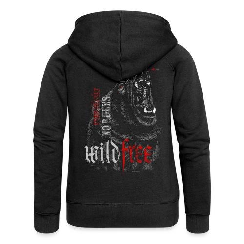 WILDFREE | BEAR - Frauen Premium Kapuzenjacke