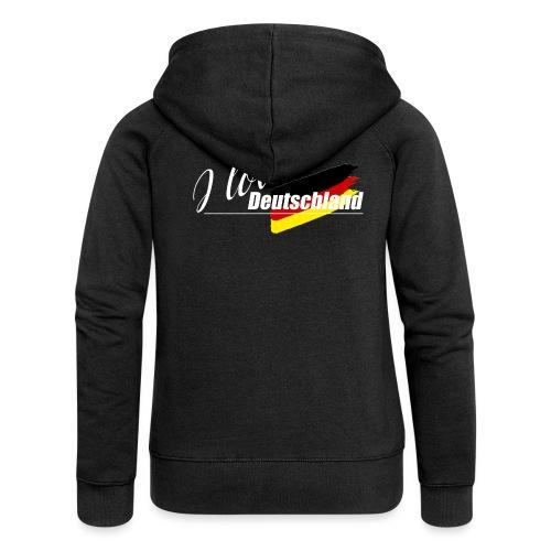 I love Deutschland - Frauen Premium Kapuzenjacke
