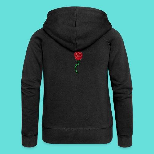 Rose rouge - Veste à capuche Premium Femme
