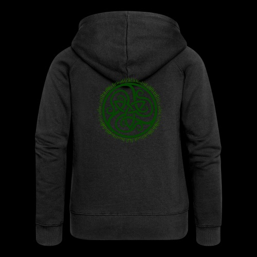 Green Celtic Triknot - Women's Premium Hooded Jacket