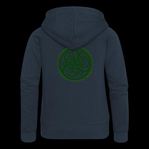 Green Celtic Triknot - Women's Premium Hooded Jacket
