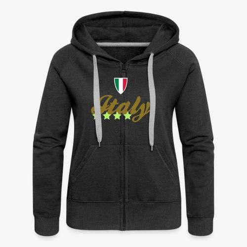 Gruppo di stelle Italia - Felpa con zip premium da donna