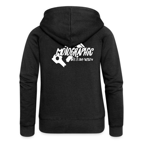 MotoGraphic logo wit zwart - Vrouwenjack met capuchon Premium