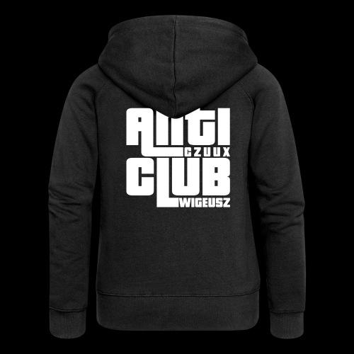 Anti Czuux Wigeusz Club - Rozpinana bluza damska z kapturem Premium