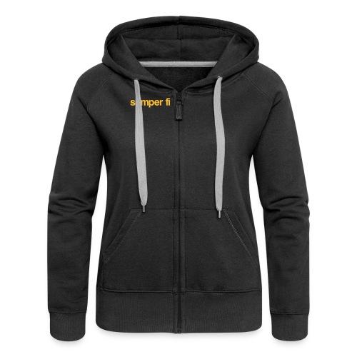 semper fi Wettkampf Jacket - Frauen Premium Kapuzenjacke