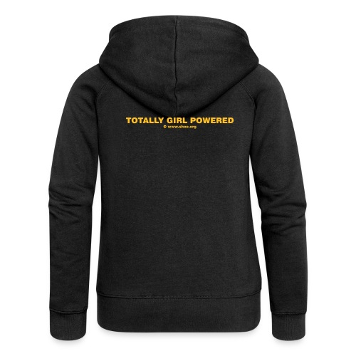 ACHTUNG LESBEN POWER: Totally Girl Powered Motiv - Frauen Premium Kapuzenjacke
