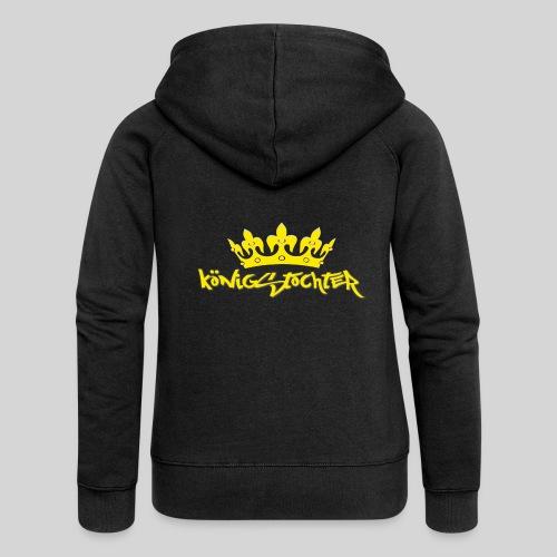Königstochter m. Krone über der stylischen Schrift - Frauen Premium Kapuzenjacke