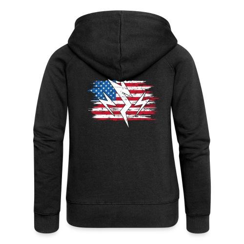 USA United States Strom Elektroauto Geschenk - Frauen Premium Kapuzenjacke
