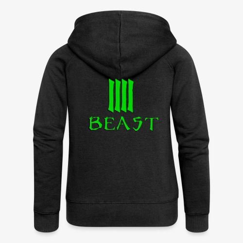 Beast Green - Women's Premium Hooded Jacket
