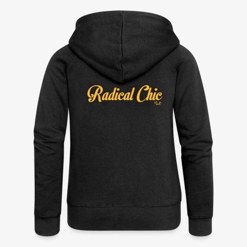 radical chic - Felpa con zip premium da donna