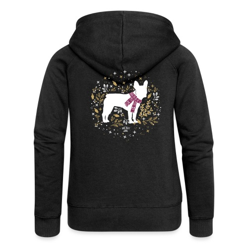 French Bulldog Winter - Frauen Premium Kapuzenjacke