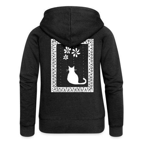 Poetic Kitty Cat by BlackenedMoonArts - Dame Premium hættejakke