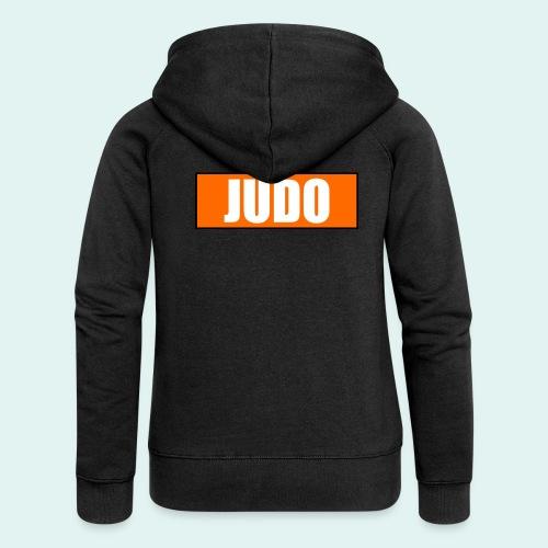Judo Orange 5. Kyu - Frauen Premium Kapuzenjacke